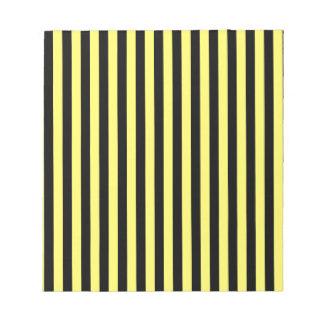 Thin Stripes - Black and Lemon Notepad