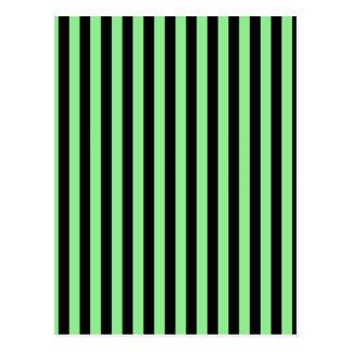 Thin Stripes - Black and Light Green Postcard