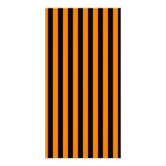 Thin Stripes - Black and Orange Card