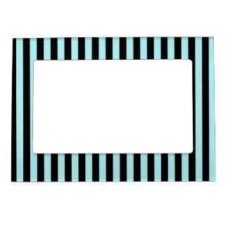 Thin Stripes - Black and Pale Blue Magnetic Photo Frame