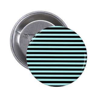 Thin Stripes - Black and Pale Blue Pinback Button
