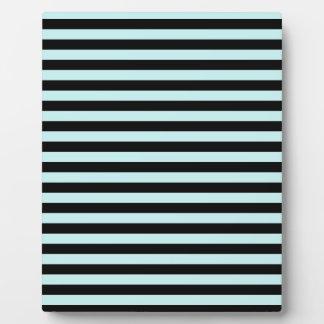 Thin Stripes - Black and Pale Blue Plaque