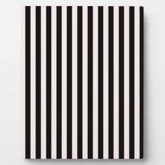 Thin Stripes - Black and Pale Pink Plaque