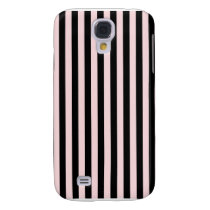 Thin Stripes - Black and Pale Pink Samsung Galaxy S4 Cover