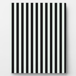 Thin Stripes - Black and Pastel Green Plaque