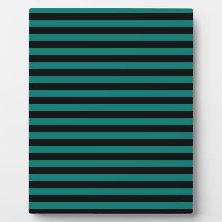 Thin Stripes - Black and Pine Green Plaque
