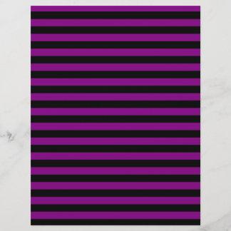 Thin Stripes - Black and Purple