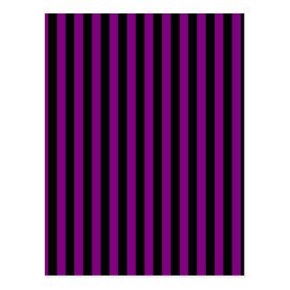 Thin Stripes - Black and Purple Postcard