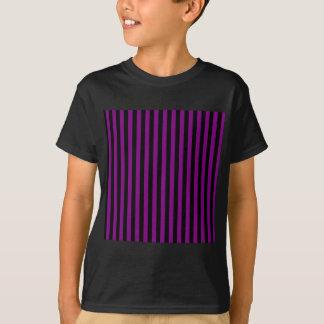 Thin Stripes - Black and Purple T-Shirt