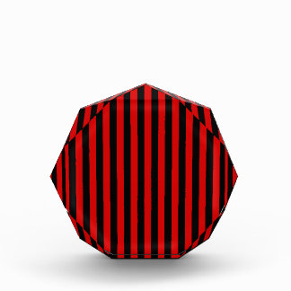 Thin Stripes - Black and Rosso Corsa Acrylic Award