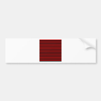 Thin Stripes - Black and Rosso Corsa Bumper Sticker