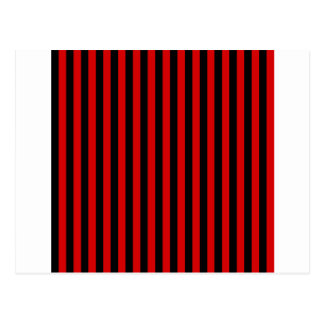 Thin Stripes - Black and Rosso Corsa Postcard