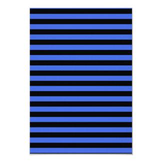 Thin Stripes - Black and Royal Blue Card