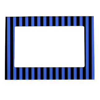 Thin Stripes - Black and Royal Blue Magnetic Photo Frame