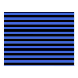 Thin Stripes - Black and Royal Blue Postcard