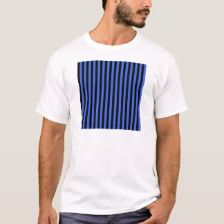 Thin Stripes - Black and Royal Blue T-Shirt