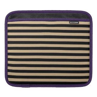 Thin Stripes - Black and Tan iPad Sleeve