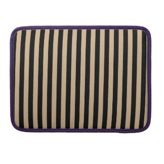 Thin Stripes - Black and Tan MacBook Pro Sleeve