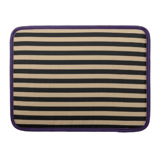 Thin Stripes - Black and Tan Sleeve For MacBook Pro