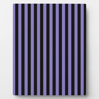 Thin Stripes - Black and Ube Plaque