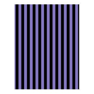 Thin Stripes - Black and Ube Postcard