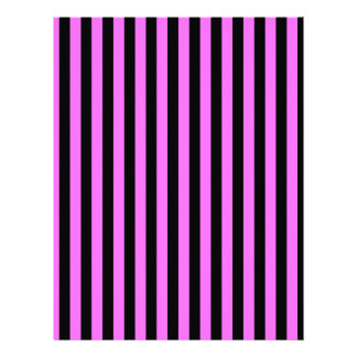 Thin Stripes - Black and Ultra Pink Letterhead