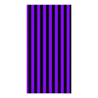 Thin Stripes - Black and Violet Card