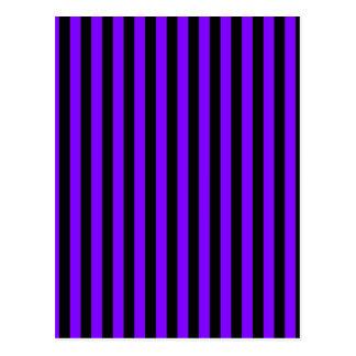 Thin Stripes - Black and Violet Postcard
