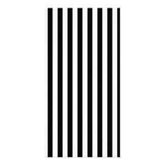 Thin Stripes - Black and White Card