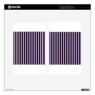 Thin Stripes - Black and Wisteria Skins For Kindle Fire