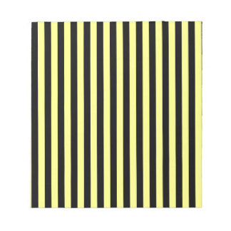Thin Stripes - Black and Yellow Notepad