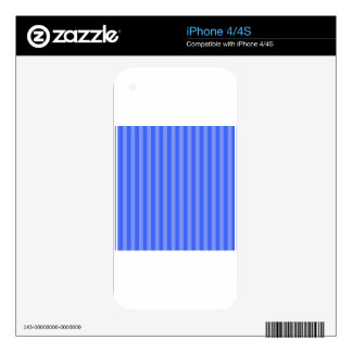 Thin Stripes - Blue and Light Blue iPhone 4S Decals
