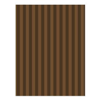 Thin Stripes - Brown and Dark Brown Postcard