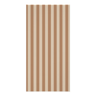 Thin Stripes - Brown and Light Brown Card