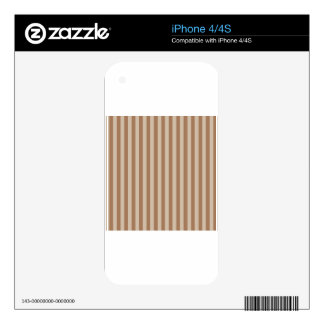 Thin Stripes - Brown and Light Brown Decals For The iPhone 4