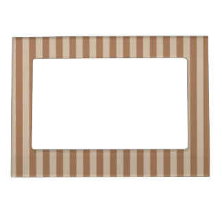 Thin Stripes - Brown and Light Brown Magnetic Photo Frame