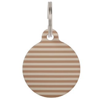 Thin Stripes - Brown and Light Brown Pet Name Tag