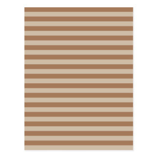 Thin Stripes - Brown and Light Brown Postcard