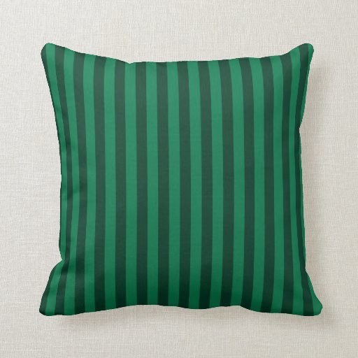 thin stripes green and dark green throw pillow zazzle. Black Bedroom Furniture Sets. Home Design Ideas