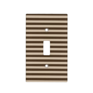 Brown Light Switches: Thin Stripes - Light Brown and Dark Brown Light Switch Cover,Lighting