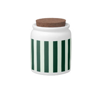 Thin Stripes - Light Green and Dark Green Candy Dish