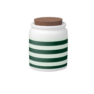 Thin Stripes - Light Green and Dark Green Candy Dishes