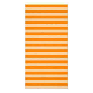 Thin Stripes - Light Orange and Dark Orange Card