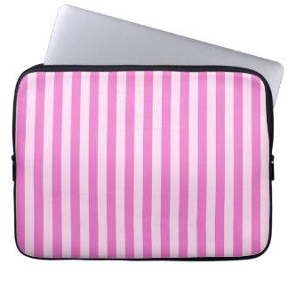 Thin Stripes - Light Pink and Dark Pink Laptop Sleeve