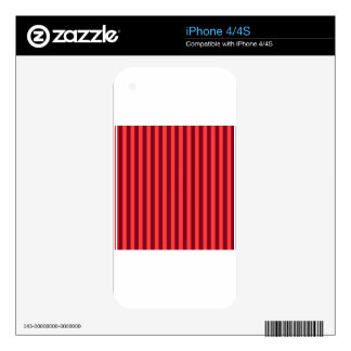 Thin Stripes - Light Red and Dark Red Decals For The iPhone 4S