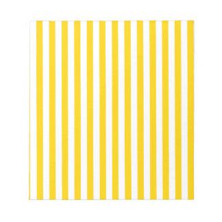Thin Stripes - Light Yellow and Dark Yellow Notepad