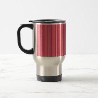 Thin Stripes LtPink 15 Oz Stainless Steel Travel Mug
