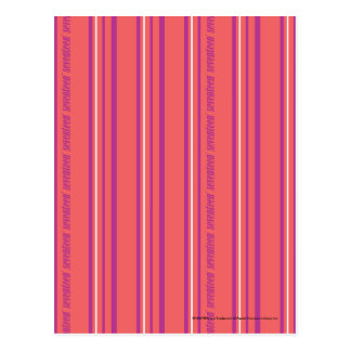 Thin Stripes LtPink Postcard