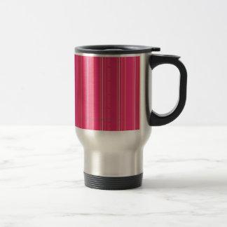 Thin Stripes Magenta 15 Oz Stainless Steel Travel Mug