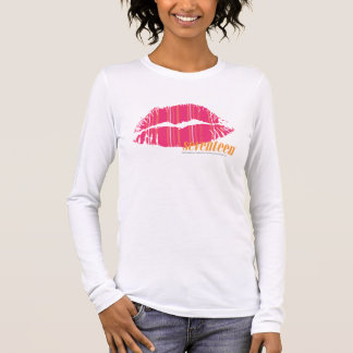 Thin Stripes Magenta Long Sleeve T-Shirt